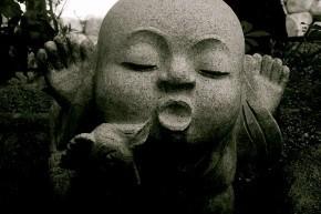 Imagen de Buda en blanco y negro