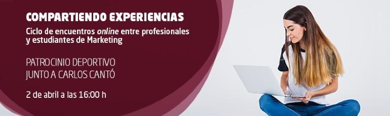 Encuentro online entre estudiantes de marketing y Carlos Cantó