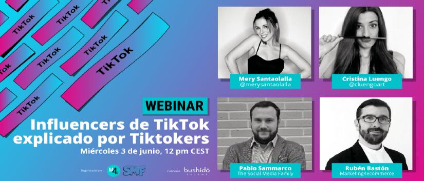 Webinar sobre TikTok centrado en influencers