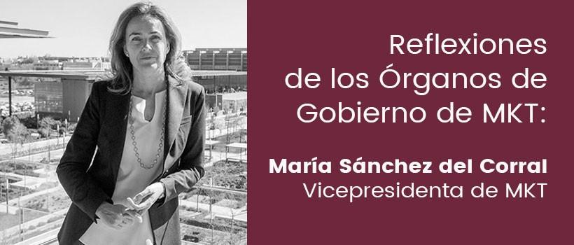 Reflexión María Sánchez del Corral