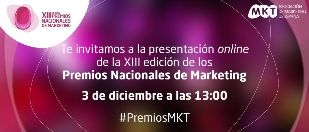 Presentación online de la XIII edición de los Premios Nacionales de Marketing